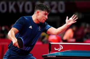 Great Britain's Ross Wilson in action against France's Clement Berthier.