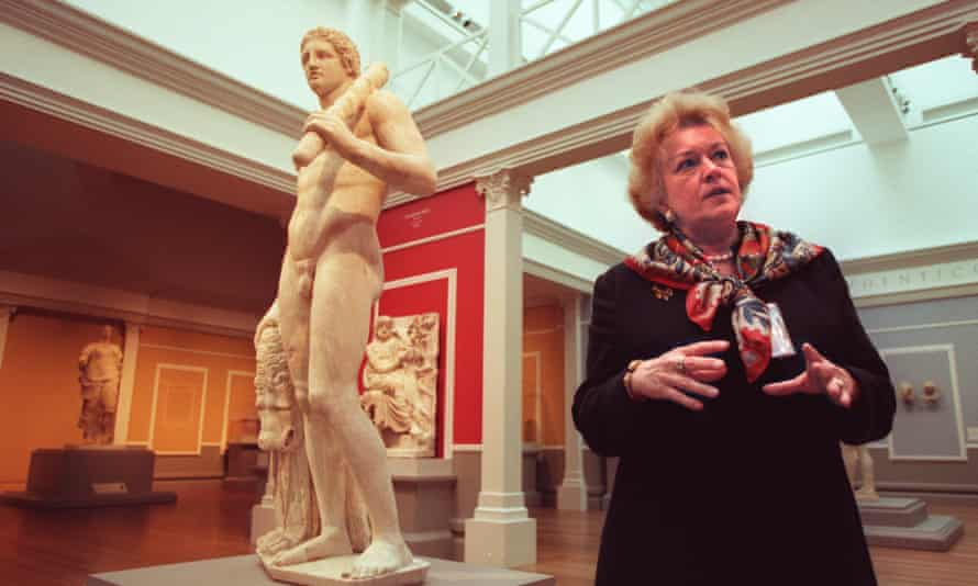 Marion True, former antiquities curator at the J Paul Getty Museum, in 1998.