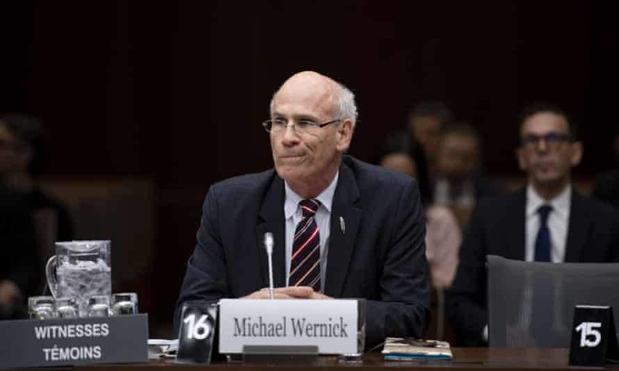 Michael Wernick at a SNC Lavalin hearing in Ottawa, Canada on 6 March.