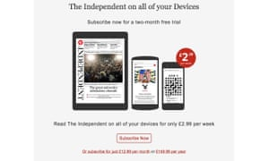 The Independent Daily Edition contains around 100 articles a day.