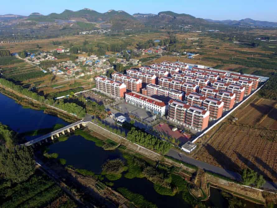 "A ""new rural community"" development in Wali village, Zhutian district, Linyi prefecture."