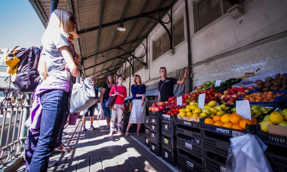 Market moment … Taste Porto's tour takes in the city's Mercado do Bolhão.