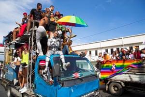 The LGTBI+ Pride parade in Santo Domingo, Dominican Republic