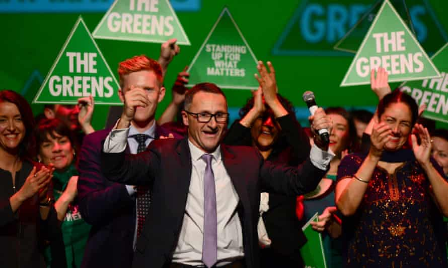 Greens Leader Senator Richard Di Natale at the Green's 2016 election night party.