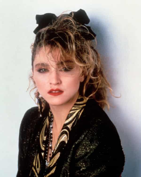 Madonna on the set of the film Desperately Seeking Susan, 1985.