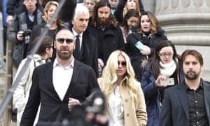 Kesha leaves court, 2016.