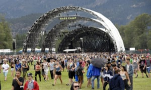 One of the two stages at last year's Pemberton music festival.