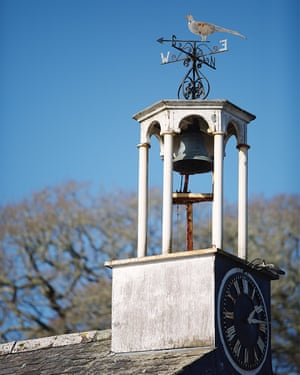 Weathervane on a bell tower