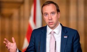 Health secretary, Matt Hancock