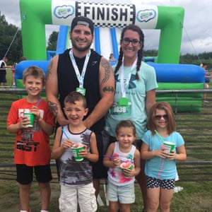 "Briana Libby, boyfriend Kevin, and their children. ""It's going to be difficult, especially for my kids,"" Libby said."