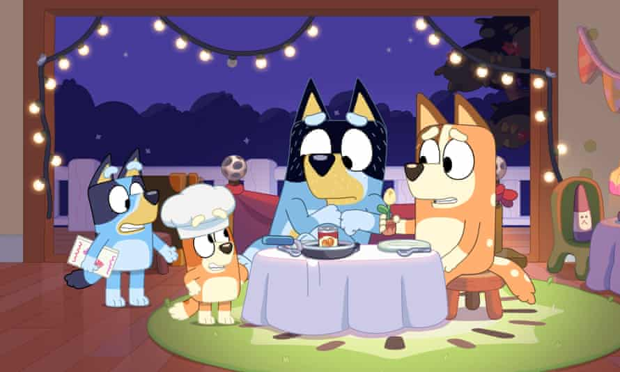Still from episode 17 of Bluey's second season