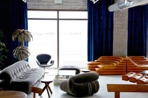 Lounge at Oddsson Hostel, Reykjavik