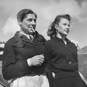 Arthur Koestler in 1947 with Mamaine Paget