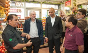 Jeremy Corbyn with Marvin Rees (right) on a visit to Bristol earlier this week.