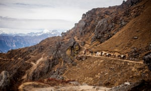 The Gosainkund trek follows an old route used by pilgrims, herders and mule trains