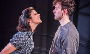 Prickly tension … Jasmine Hyde and Harry Melling in Jam.