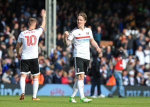 Midfielder Stefan Johansen played a huge part in Fulham's late surge for the play-offs