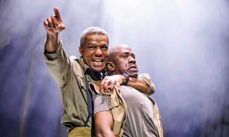 Stream on … Hugh Quarshie as Othello and Lucian Msamati as Iago in the RSC's recent Othello.