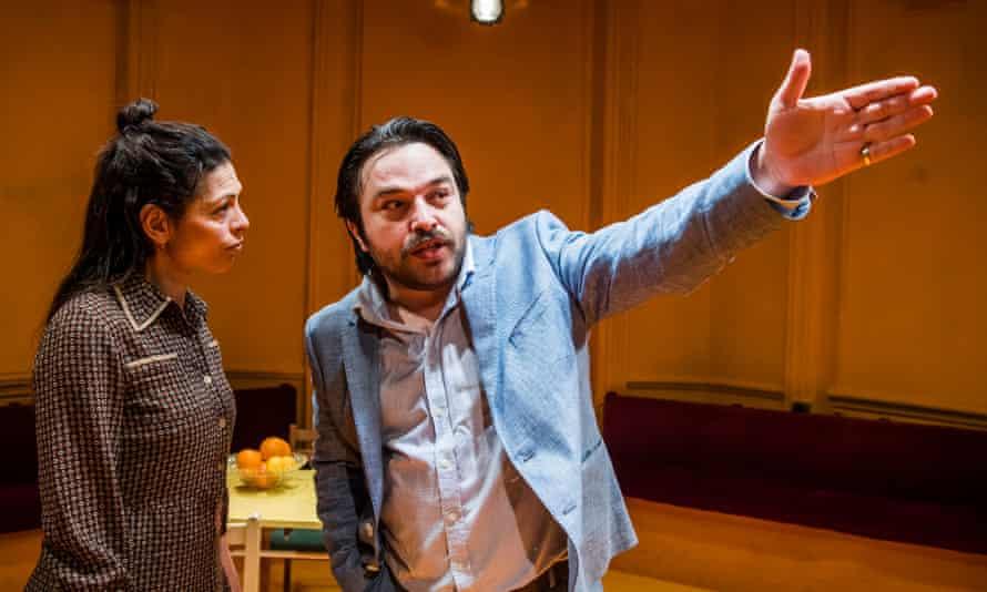 Myriam Acharki (Safiyya) and Ammar Haj Ahmad (Said) in Returning To Haifa by Ghassan Kanafani @ Finborough Theatre