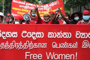 Sri Lanka Marchers in Colombo demanded justice and improved social welfare benefits for women during the coronavirus pandemic