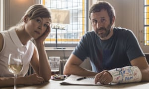 'Put strain on marriage': Chris O'Dowd and Rosamund Pike in State of the Union.