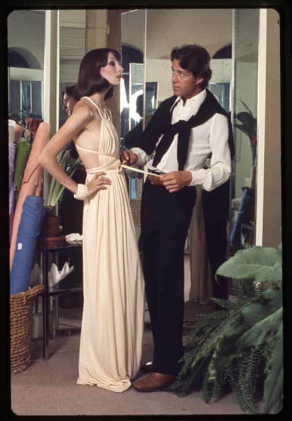 """'Halston (right) worked with the """"day to night"""" idea that fuels modern dressing, decades ahead of its time.'"""