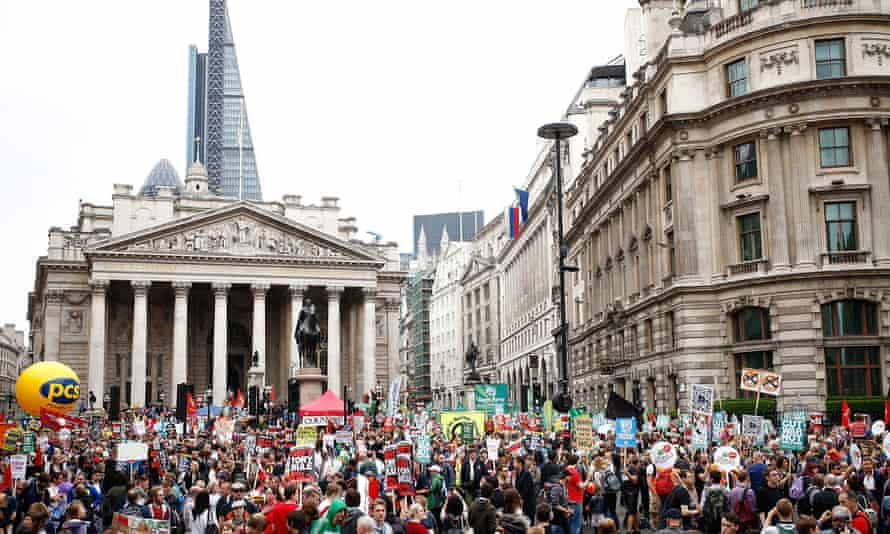 The anti-austerity march in London on 20 June.