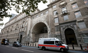 Thames House, headquarters of the British security service (MI5).
