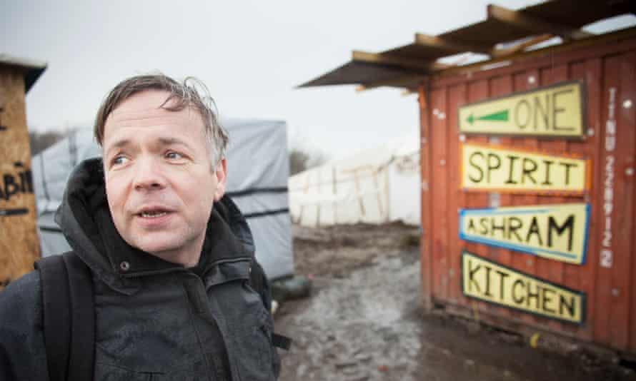 Leon Aart at his Calais 'Jungle' camp kitchen.
