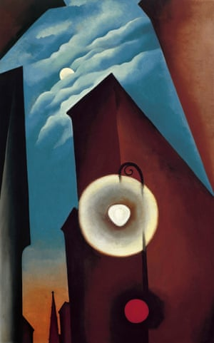Georgia O'Keeffe's New York Street with Moon, 1925