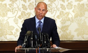 Michael Avenatti speaks at a news conference in Chicago, Illinois, on 15 July.