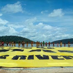 Munduruku tibe protest