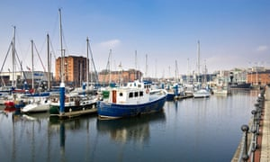 Hull marina ... the business development alongside includes a hub for tech startups... Photograph: Alamy