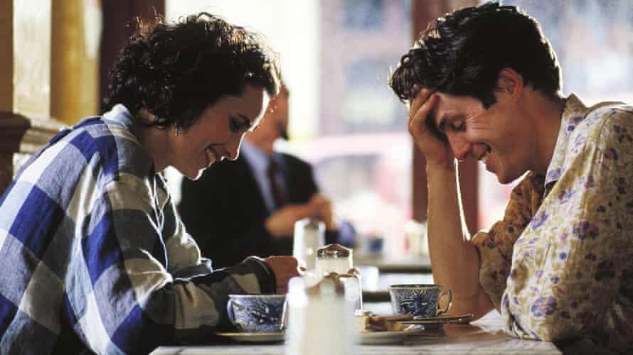 Andie MacDowell and Hugh Grant in Four Weddings.