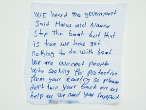 'We are innocent people': a message from a detainee on Manus Island