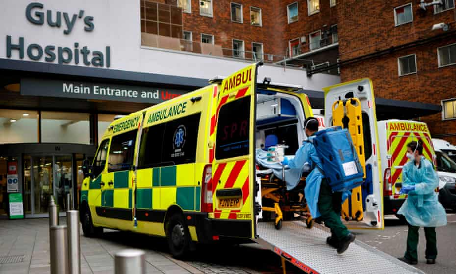 A patient arrives at Guy's Hospital, London as a new strain appears to be behind the recent upsurge in cases.