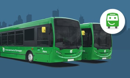 """Two of Citymapper's """"smart buses"""""""
