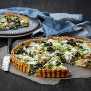 Kale and bacon quiche