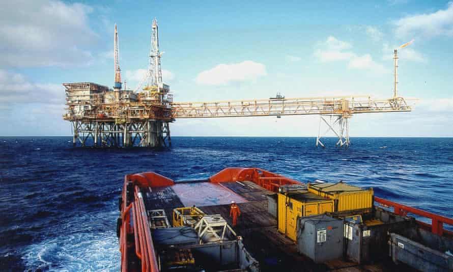 A Woodside oil rig on Australia's north-west shelf