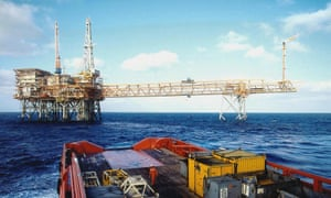 An oil platform in the Timor Sea.