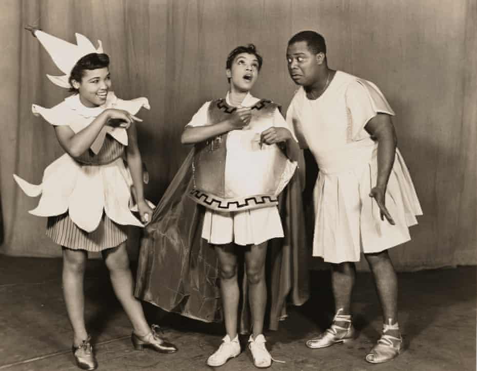 If you go down to the woods … Butterfly McQueen as Puck, Maxine Sullivan as Titania and Louis Armstrong as Bottom/Pyramus.