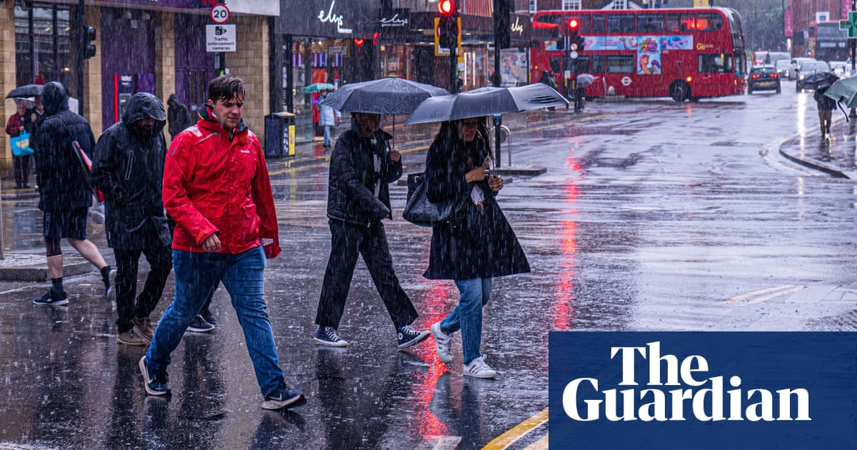 UK weather: rainstorms to turn to dry conditions by Wednesday