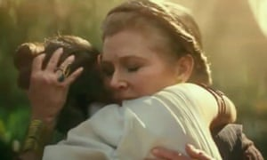 'Princess Leia lives in a way that is kind of mind-blowing to me' ... Carrie Fisher in the trailer for The Rise of Skywalker.