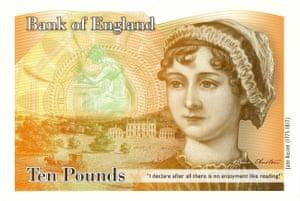 £10 note featuring Austen.