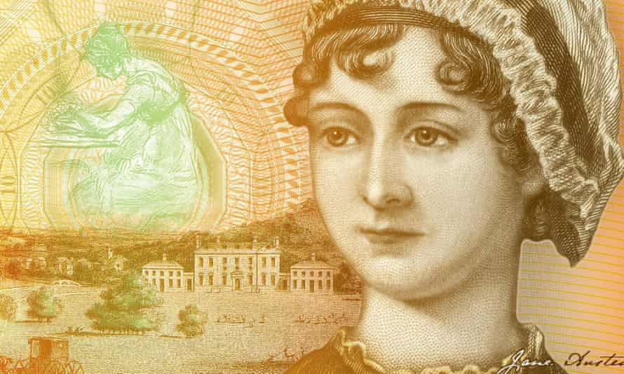 A detail from the new £10 featuring Jane Austen.