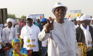 Idriss Déby at campaign rally
