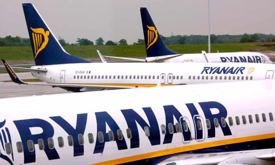 Ryanair planes at Dublin airport