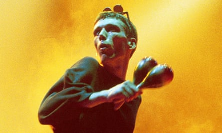'That dude doesn't do anything' … Bez on stage.
