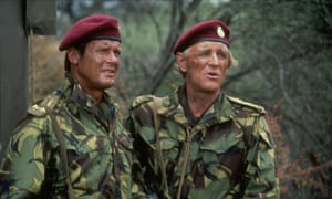 Roger Moore with Richard Harris in The Wild Geese, 1978.