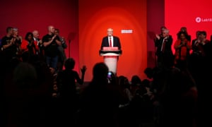 Jeremy Corbyn delivers his speech at the party's conference in Liverpool, 26 September